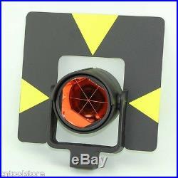 Black Target Single Prism with soft bag, for total station. Constant 0mm
