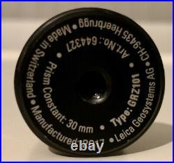 Genuine Leica GRZ101 360 Degree Mini Prism. 1.5mm Accuracy Used