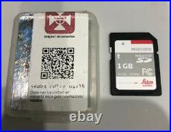 Genuine Leica MSD1000 SD Memory Card Total Station GPS Surveying