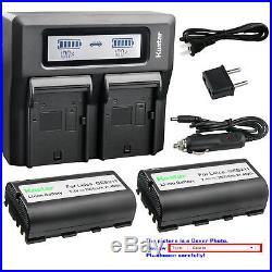 Kastar Battery Dual Fast Charger for Leica GEB211 Leica VIA Leica GPS900 GPS1200