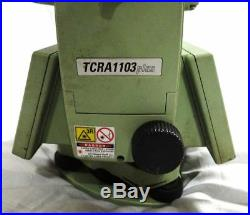 LEICA TCRA1103 Plus 3 ROBOTIC TOTAL STATION FOR SURVEYING BUT WithO CHARGER USED