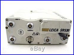 Leica GPS 500 SR530 L1 L2 Receiver Surveying Total Station Dual Frequency Unit