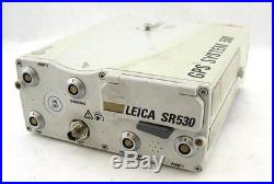 Leica GPS System 500 SR530 L1 L2 Receiver Surveying Total Station Dual Frequency