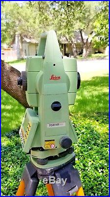 Leica TCA1101plus 1 AutoTracking Robotic Total Station, with Machine Guidance