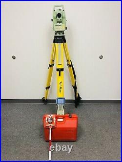Leica TCRA1103 Plus Survey Robotic Total Station with Tripod & Prism Pole