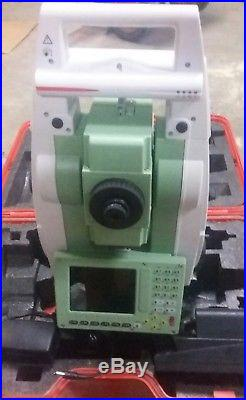 Leica TS12 2 R400 Robotic Total Station Case Charger 2 batt free worldwide