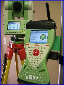Leica TS12 P 3 R400 Roboter Total Station CS15 RH16 für Vermessung W 1M