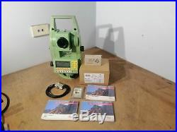 Leica Tc1103 Total Station With New Batteries + Carry Case Tc-1103