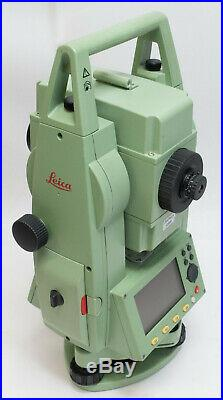 Leica Tcr405 Ultra 5 Total Station, 2 Battery, Wall & Vehicle Charger