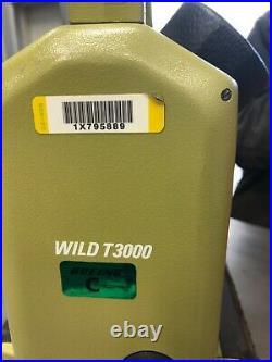 Leica Theomat Wild T3000 Theodolite Total Survey Station W Case