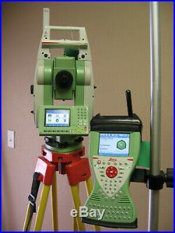 Leica Ts12 P 3 R400 Robotic Total Station Cs15 Rh16 For Surveying W 1m Warranty