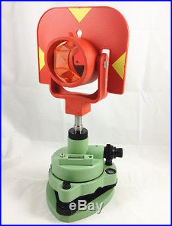 New Single Prism Set System For Leica Total Station Surveying Red Target
