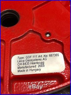Original Leica GPS GDF111 Tribrach For Total Station / GPS