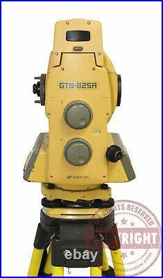 Topcon Gts-825a Robotic Surveying Total Station, Trimble, Sokkia, Leica, One Man