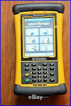 Trimble TDS Nomad Robotic Total Station Collector with LM80 Layout for RTS BIM MEP